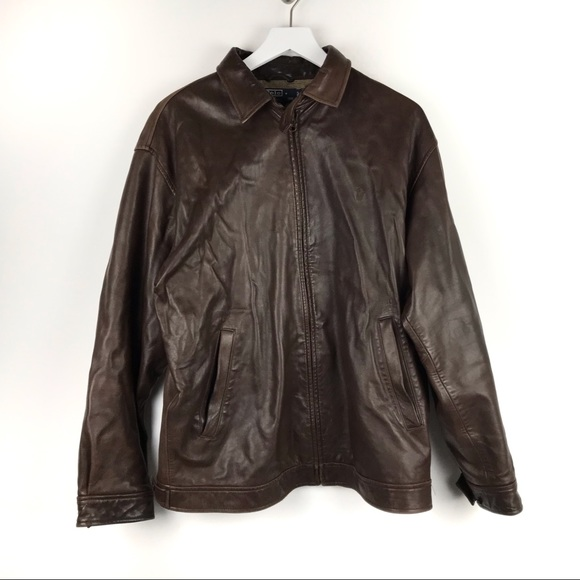 Polo by Ralph Lauren Other - Polo Ralph Lauren Brown Leather Jacket Size Large